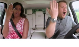 Michelle Obama rapea en el 'Carpool Karaoke' de James Corden