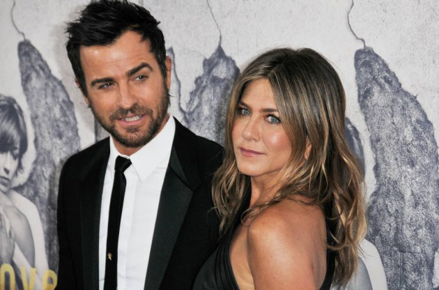 Justin Theroux y Jennifer Aniston, en un estreno en Hollywood en abril de 2018.
